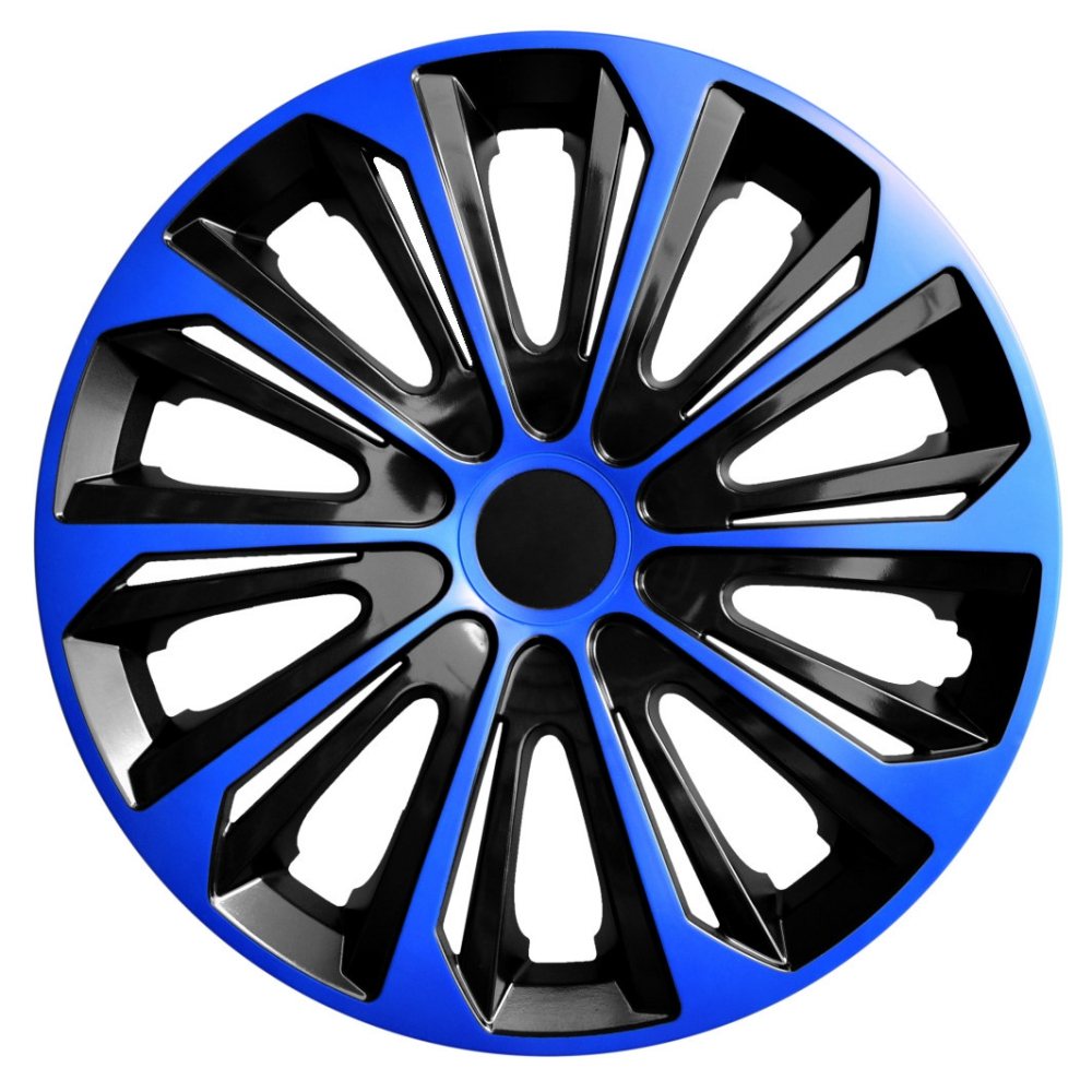 Puklice na kolesá NRM Strong čierna   modrá 4ks  e8ba214ec10